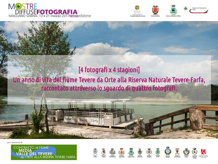 Concorso fotografico 4 fotografi per 4 stagioni, Residenze Creative, Mostre Diffuse Fotografia Contratto di Fiume Media Valle del Tevere