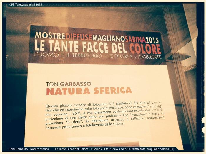 Mostre Diffuse 2015 - Le Tante Facce del Colore - L'uomo e il territorio, I colori e l'ambiente - Magliano Sabina