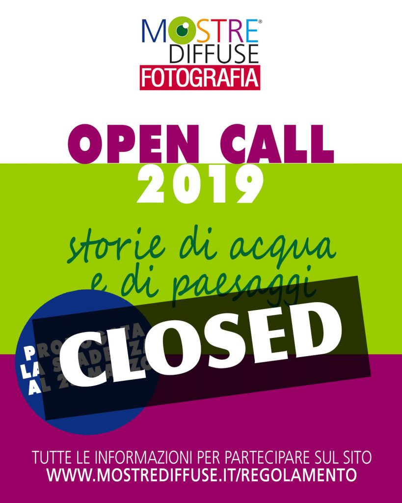 open call mostre diffuse fotografia 2019 closed