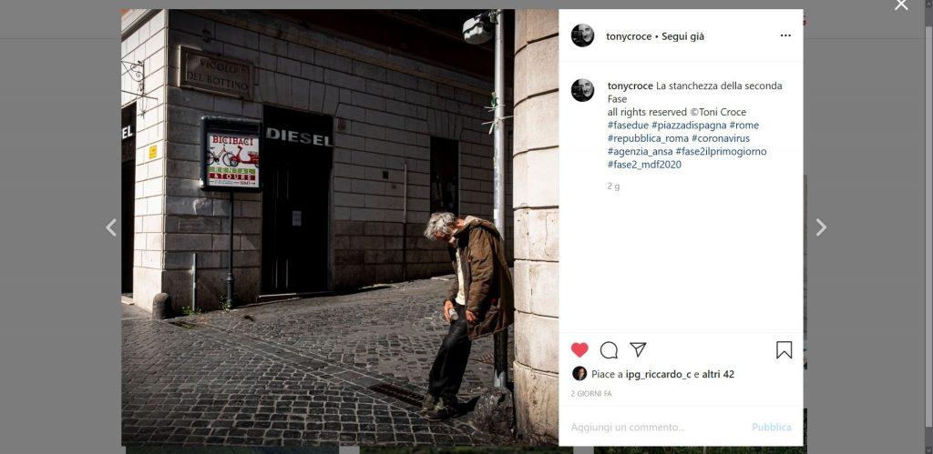 Contest instagram #fase2ilprimogiorno, evento mostre diffuse fotografia 2020, Tony Croce
